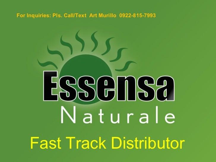 Fast track distributor ppt.