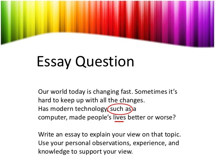 Essay On New Technology