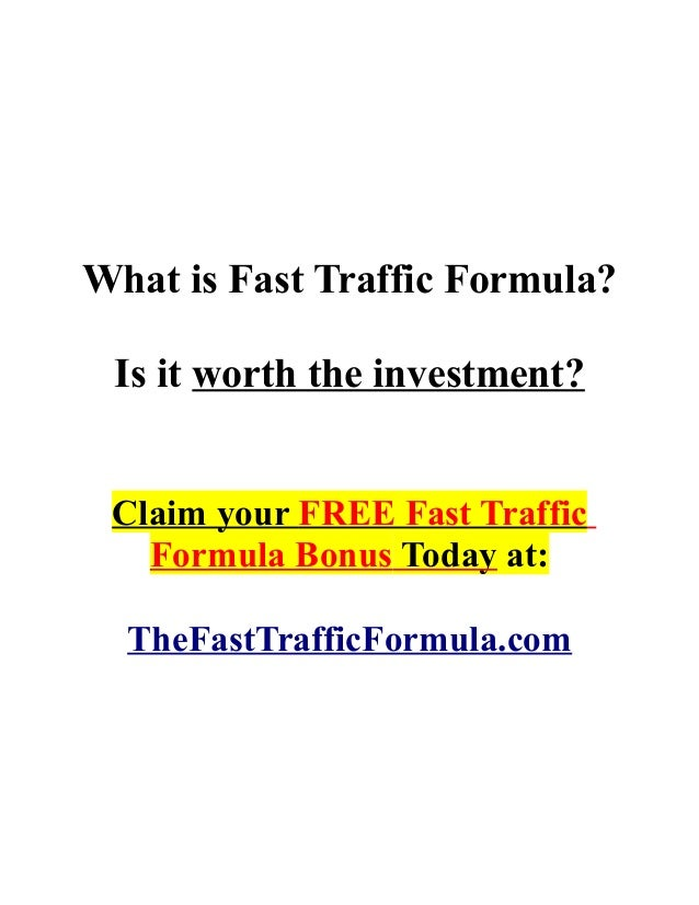 What is Fast Traffic Formula?Is it worth the investment?Claim your FREE Fast TrafficFormula Bonus Today at:TheFastTrafficF...