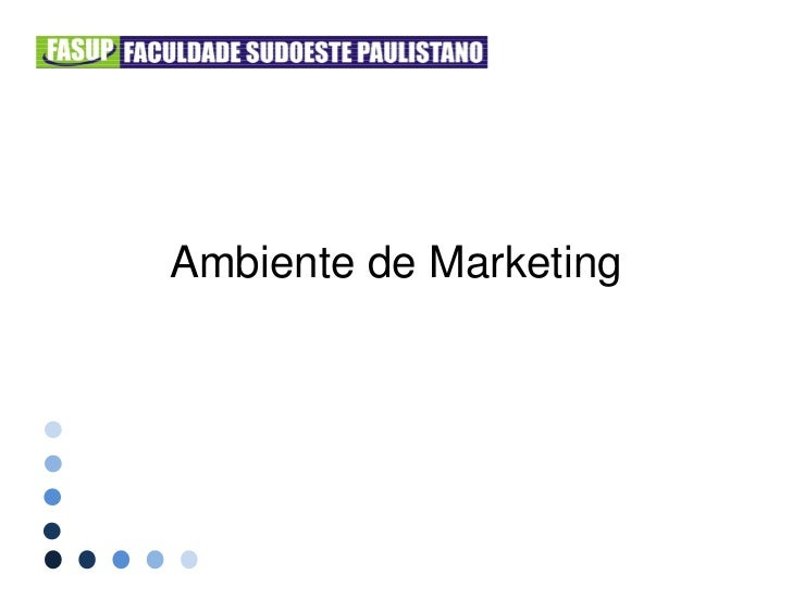 Ambiente de marketing - Prof. Alexandre Siqueira