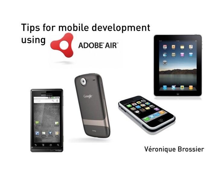 Using AIR for Mobile Development