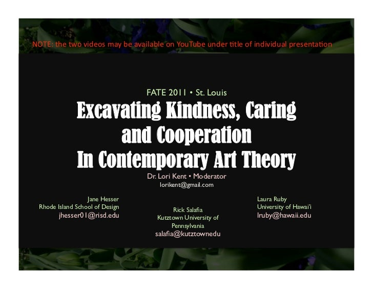 """Fate2011 Panel on """"Excavating Kindness, Caring, and Cooperation"""""""