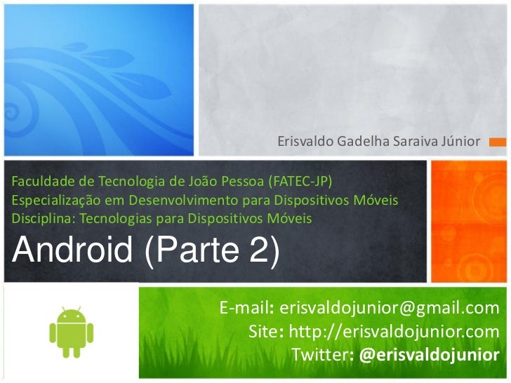 Android Aula 2