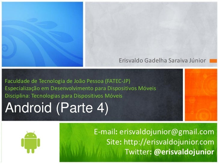 Android Aula 4