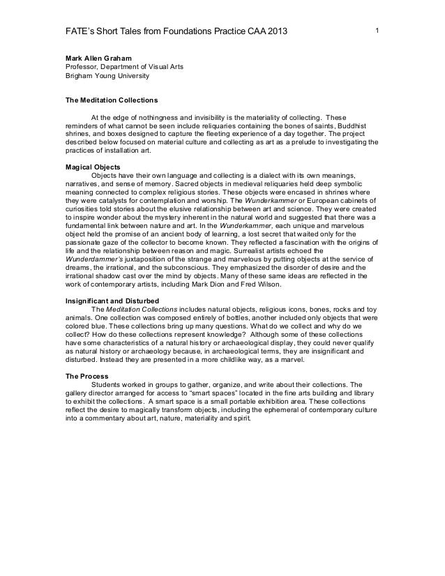 FATE's Short Tales from Foundations Practice CAA 2013                                              1Mark Allen GrahamProf...
