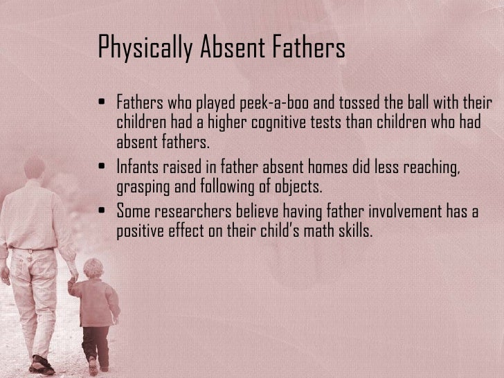the effect of the absentee of The effects of father absence table of contents i introduction3 ii review of the literature6 iii method14 iv results17 vconclusions18 appendix27.