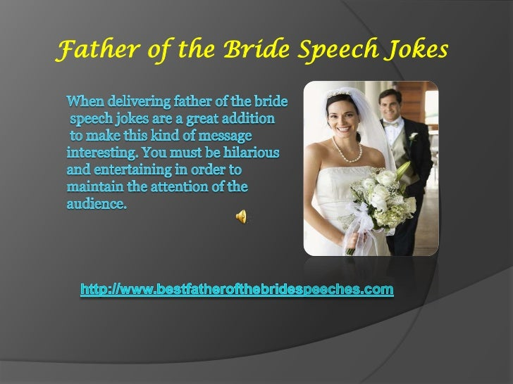 Father of the Bride Speech Jokes