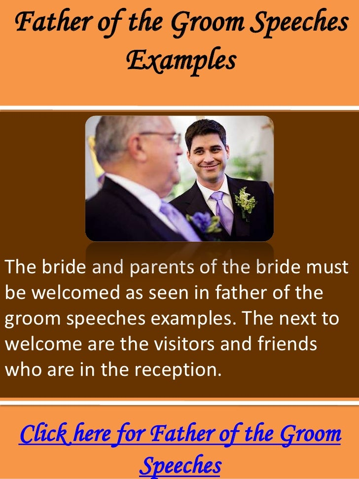 help with writing father of the bride speech If you are looking for inspiring ideas on how to write father of the bride speeches, you have found the right place in this article, let us talk about topics that you can include in your speech to make it meaningful, enlightening, and memorable.
