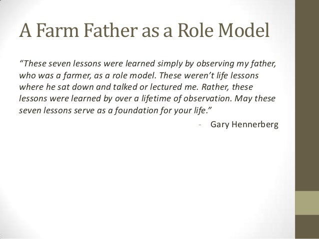 essay about my father my role model