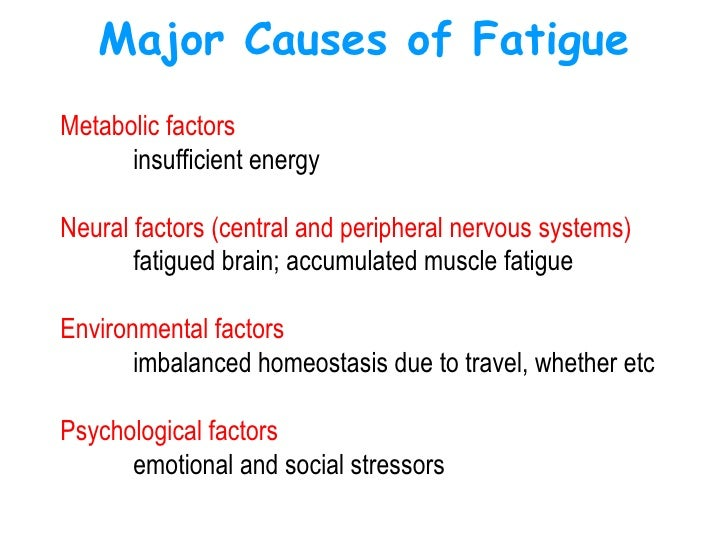 Causes of muscle fatigue in athletes