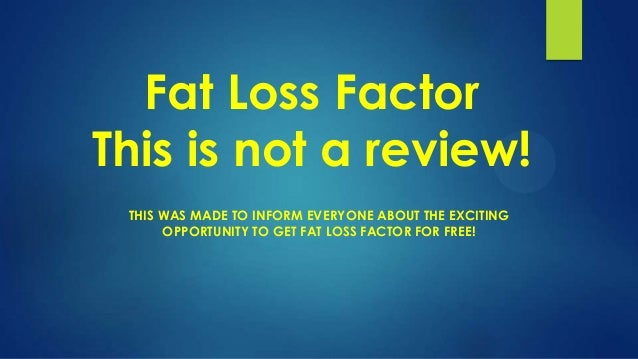 Fat Loss Factor | Download Fat Loss Factor PDF for Free!