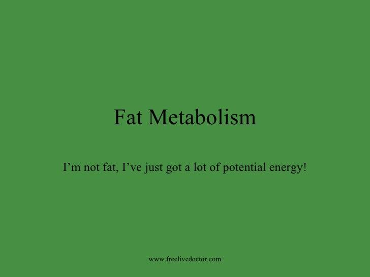 Cell Respiration &Metabolism