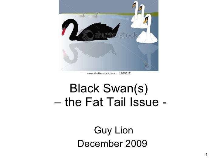 Black Swan(s)  – the Fat Tail Issue - Guy Lion December 2009