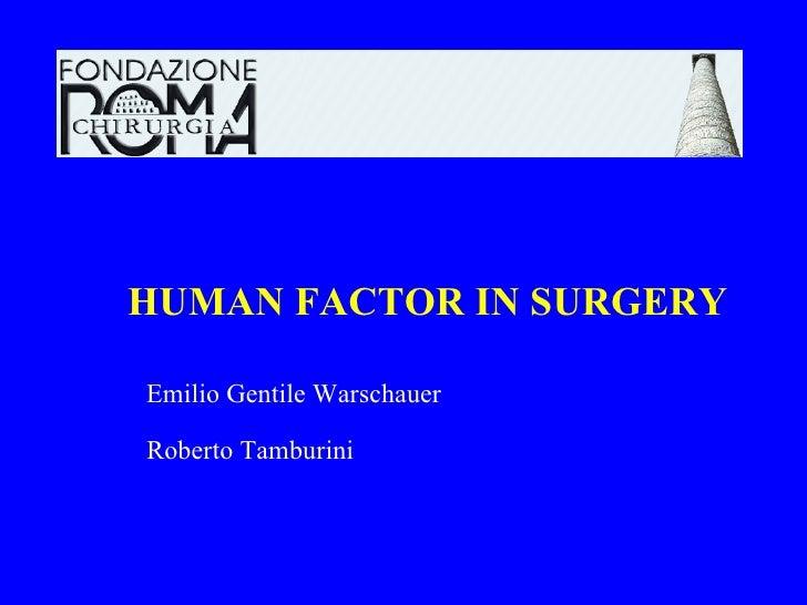 Fattore umano in chirurgia