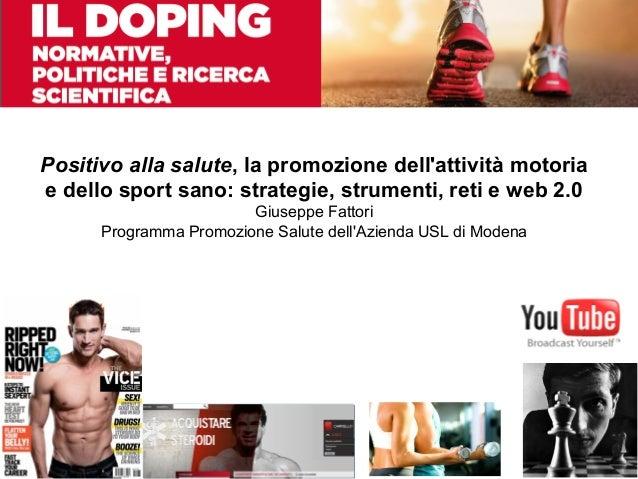 Doping: strategie, strumenti, reti e web 2.0