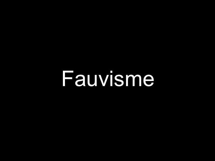 Fauvisme