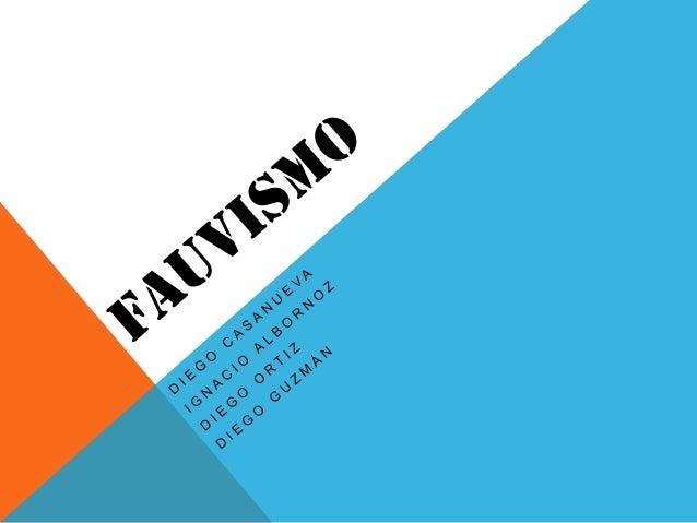 """REFERENCIA HISTÓRICA -Fauve es una palabra que en francesa significa """"fiera"""". Les fue aplicada peyorativamente al presenta..."""