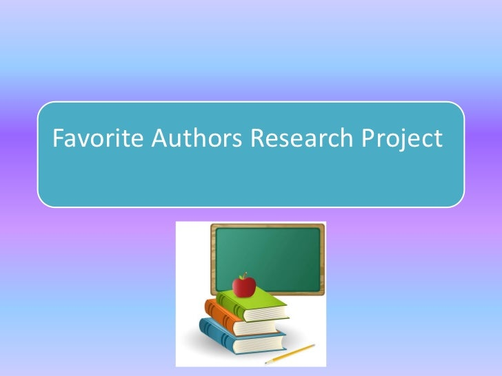 Favorite Authors Research Project
