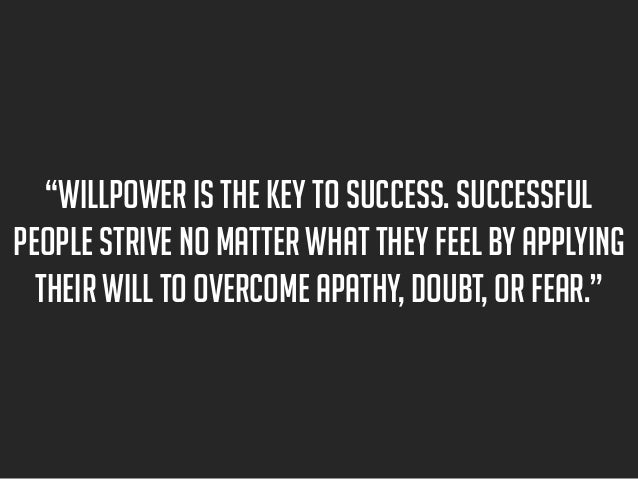 Successful People Strive no
