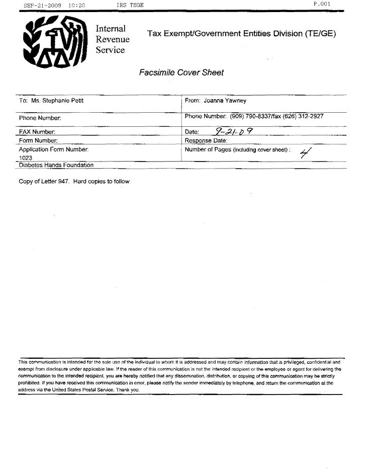 DHF 501c3 Determination Letter From IRS