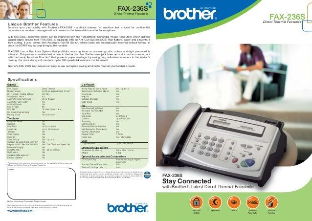 Brother Fax 236s инструкция скачать