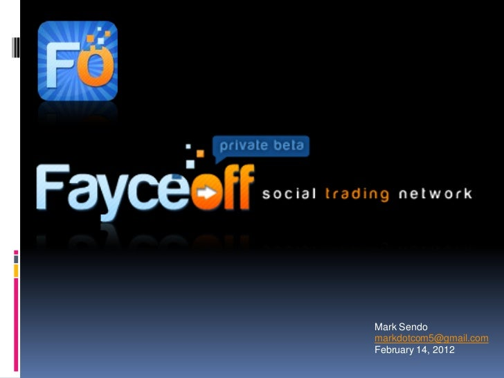 Fayceoff investor deck launch