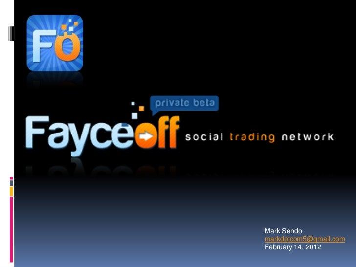 Fayceoff investor deck launch