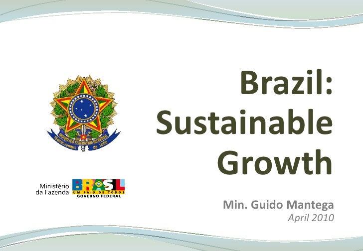 Brazil Ministry of Finance - Presentation
