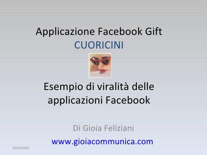 Facebook e la viralità delle sue applicazioni:un esempio
