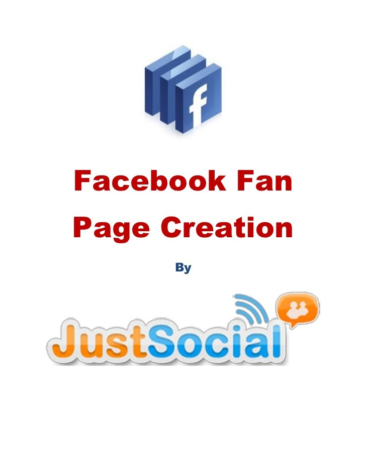 Facebook fanpage creation Just Social