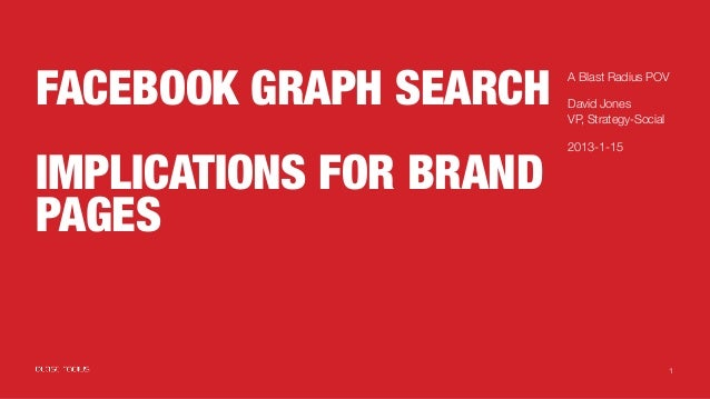 Facebook Graph Search - Implications for Brand Pages