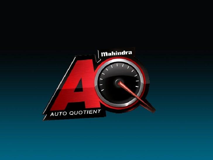 mahindra AQ finlas