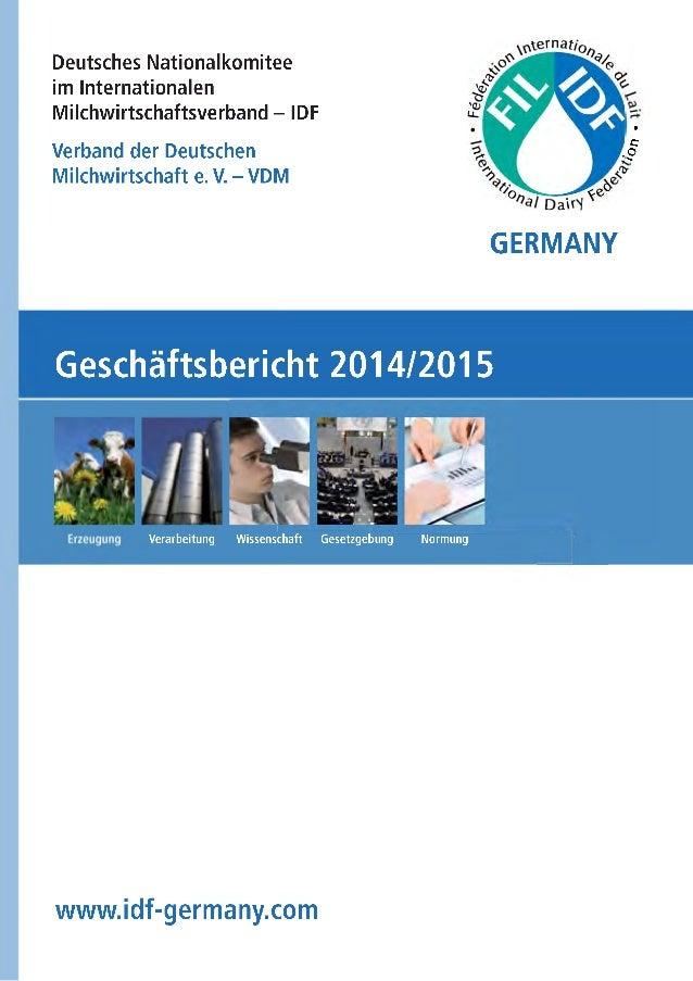 Deutsches Nationalkomitee im Internationalen Milchwirtschaftsverband - IDF Verband der Deutschen Milchwirtschaft e. V. - V...