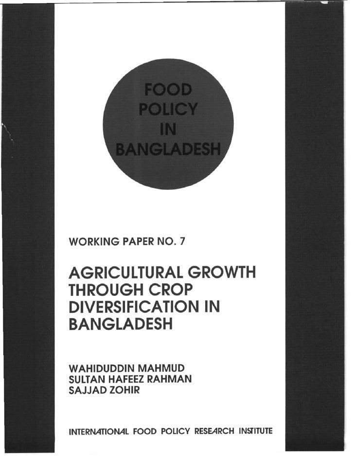 food policy in banladesh