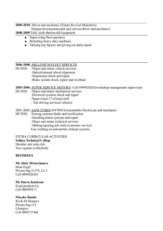 resume thabani