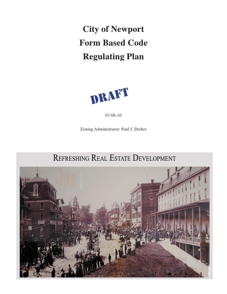 City of Newport                   Form Based Code                     Regulating Plan                              DR AFT ...