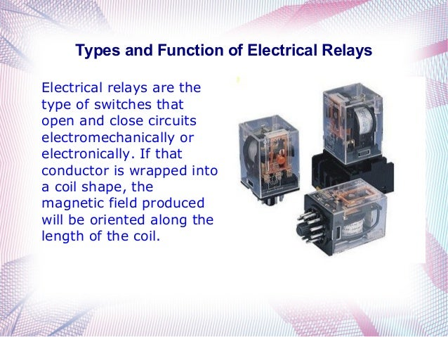 Types And Function Of Electrical Relays