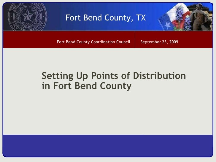 Setting Up Points of Distribution in Fort Bend County