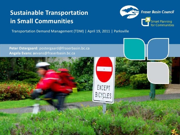 Sustainable Transportation in Small Communities