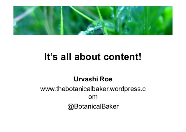 Mechanics of Blog Content Planning Lab with Urvashi Roe