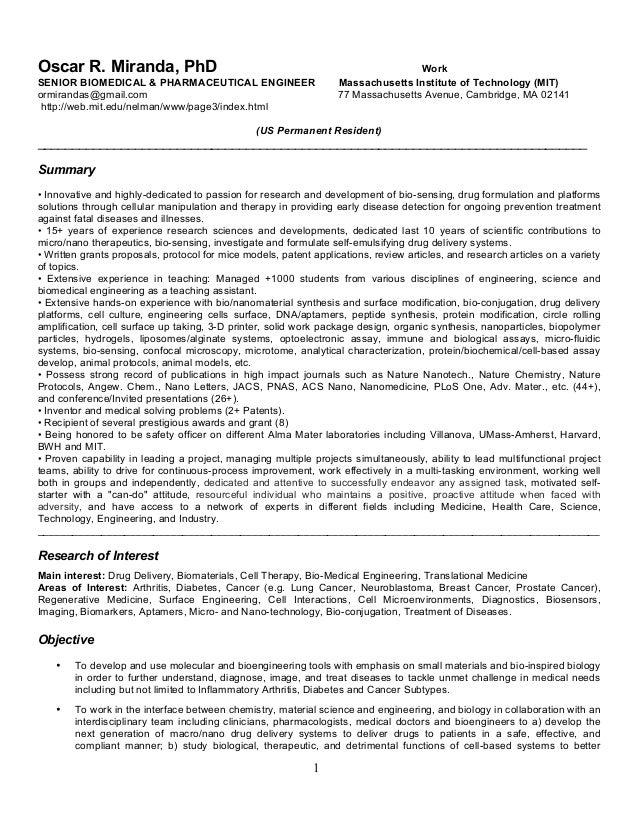 mechanical engineering personal statement cv