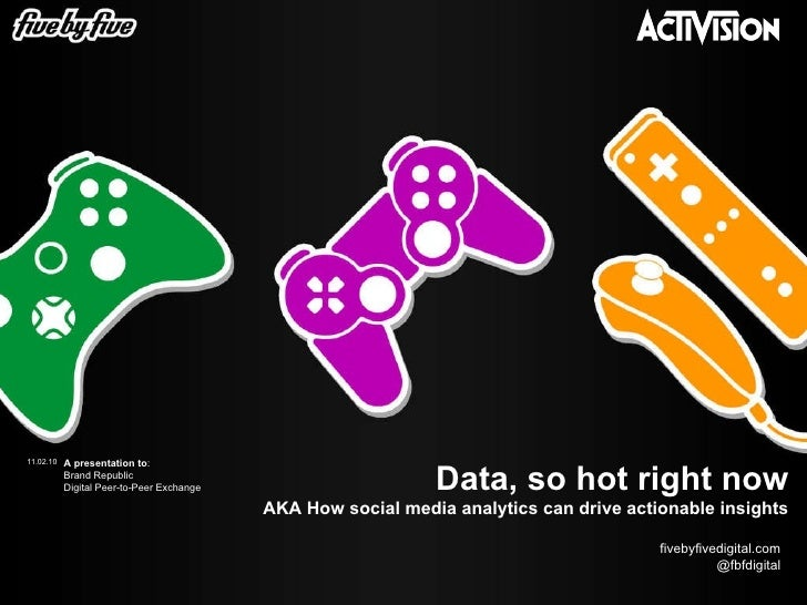 Data, so hot right now AKA How social media analytics can drive actionable insights 11.02.10 A presentation to : Brand Rep...