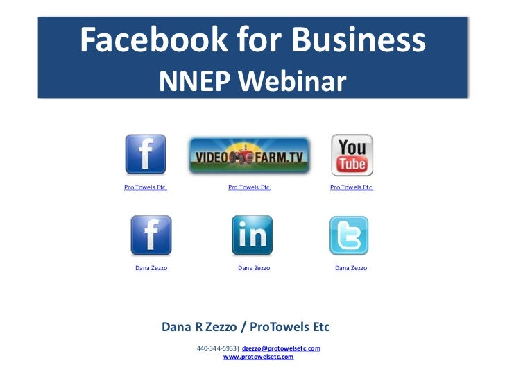 Facebook for Business             NNEP Webinar  Pro Towels Etc.            Pro Towels Etc.                Pro Towels Etc. ...