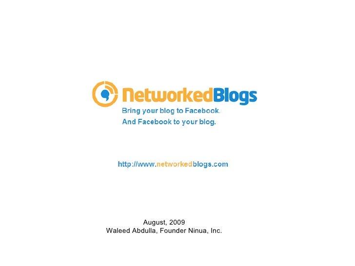 10 NetworkedBlogs - fbFund REV Demo Day