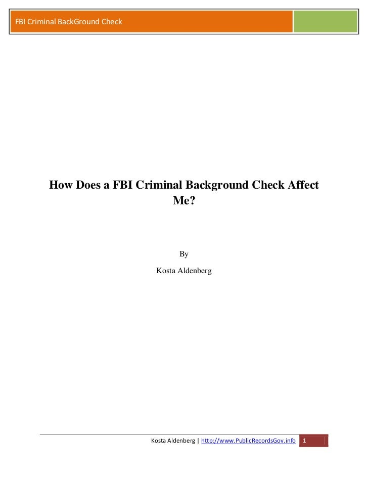 How Does a FBI Criminal Background Check Affect Me and Luggage?