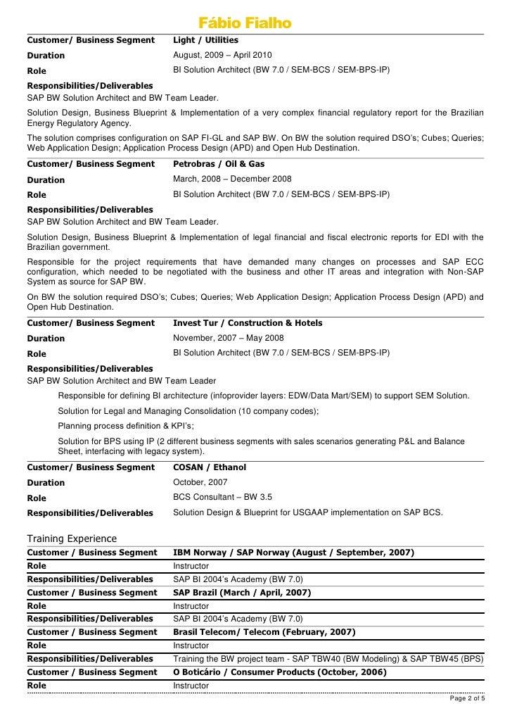 Solution Architect Resume Samples VisualCV Resume Samples Database  Carpinteria Rural Friedrich  Solution Architect Resume