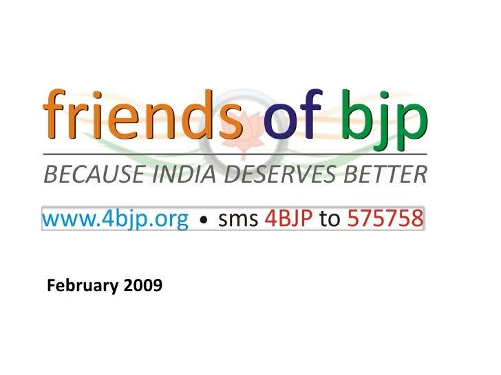 Friends of BJP Presentation