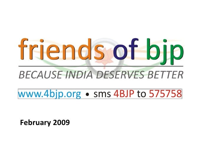 Friends of BJP Presentation