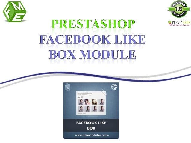 Facebook Like Box PrestaShop Module by FMEModules