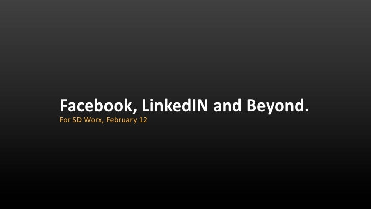 Facebook, LinkedIN & Beyond - or how the new media changed how sales people do business